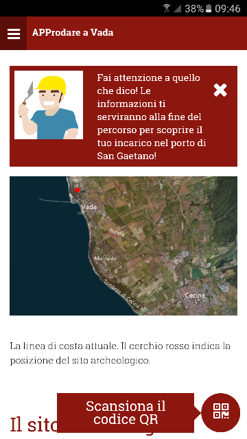 Screenshot dell'app APProdare a Vada 1