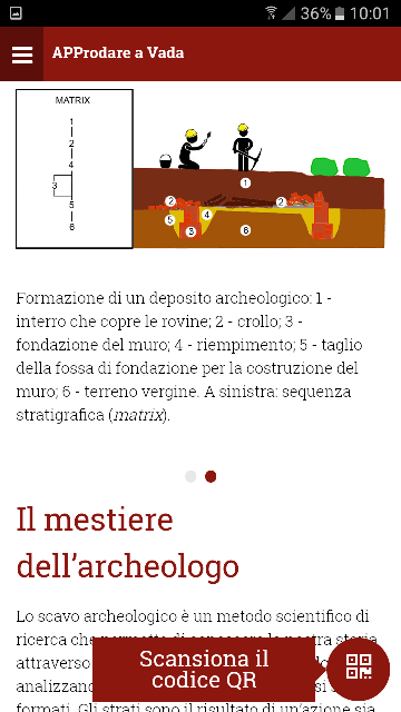 Screenshot dell'app APProdare a Vada 2